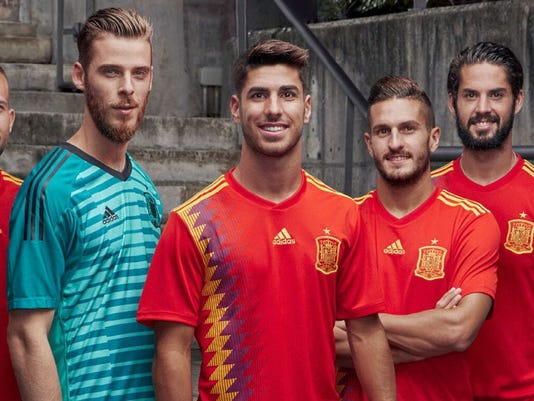 Spain s 2018 World Cup jersey sparks controversy 015a9c6ec