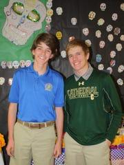 Zach Brittain, left, and Matthew Sheldon.
