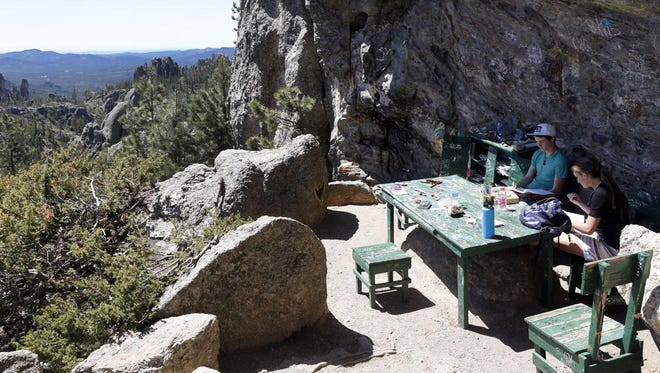 Poet's Table has become a popular spot for adventurers in Custer State Park.