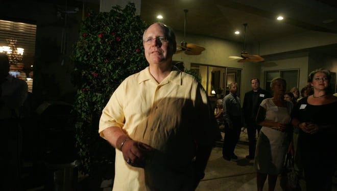 Riverside County Supervisor John Benoit watched as the election returns came in on June 8, 2010, at his residence in Bermuda Dunes.