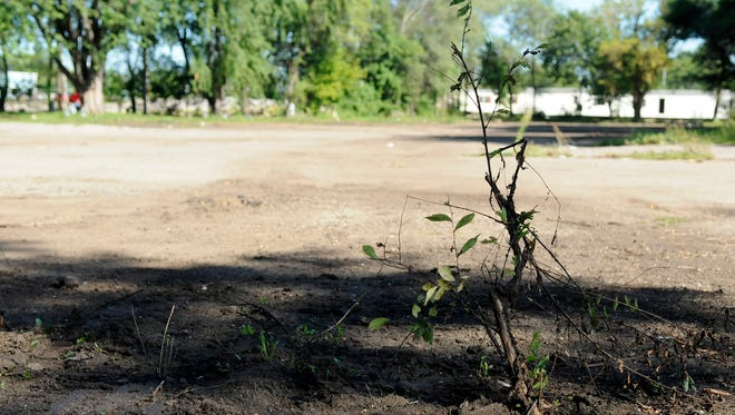 The Tri-County Mobile Home Park shifts to a somber mood of abandonment, as many of the mobile homes have been demolished or moved out of the area, on Wednesday, Aug.17, in Waite Park.