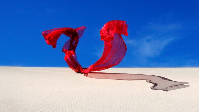 In this photo titled Red Dragon, the element of wind is captured. Photographer Terry Hastings uses four elements to photograph his models.