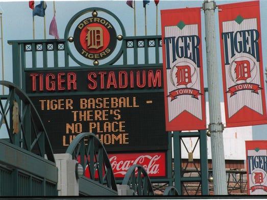 Tiger Stadium in 1996.