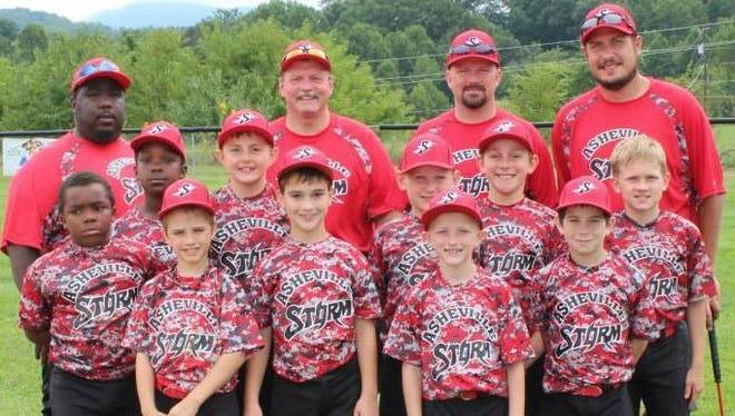 The Asheville Storm 9U baseball team.