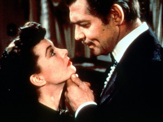 """Clark Gable and Vivian Leigh starred in the epic drama """"Gone With The Wind."""""""