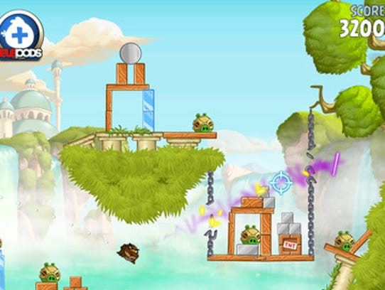 The original Angry Birds game, launched on the iOS