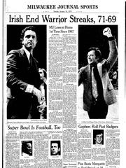 The cover of the Milwaukee Journal Sports section after