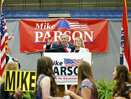 Mike Parson, a Bolivar Republican, was elected the state's No. 2 job in November 2016. He owns 48 acres of farmland and a cattle and calf operation near his home.