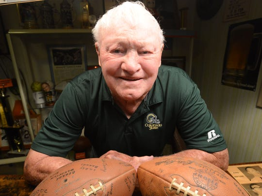 Former CSU football player Gary Glick, shown in a 2014 file photo, was picked No. 1 overall in the 1956 NFL draft by the Pittsburgh Steelers and played seven seasons in the NFL. He is one of several notable players in school history to wear No. 12.