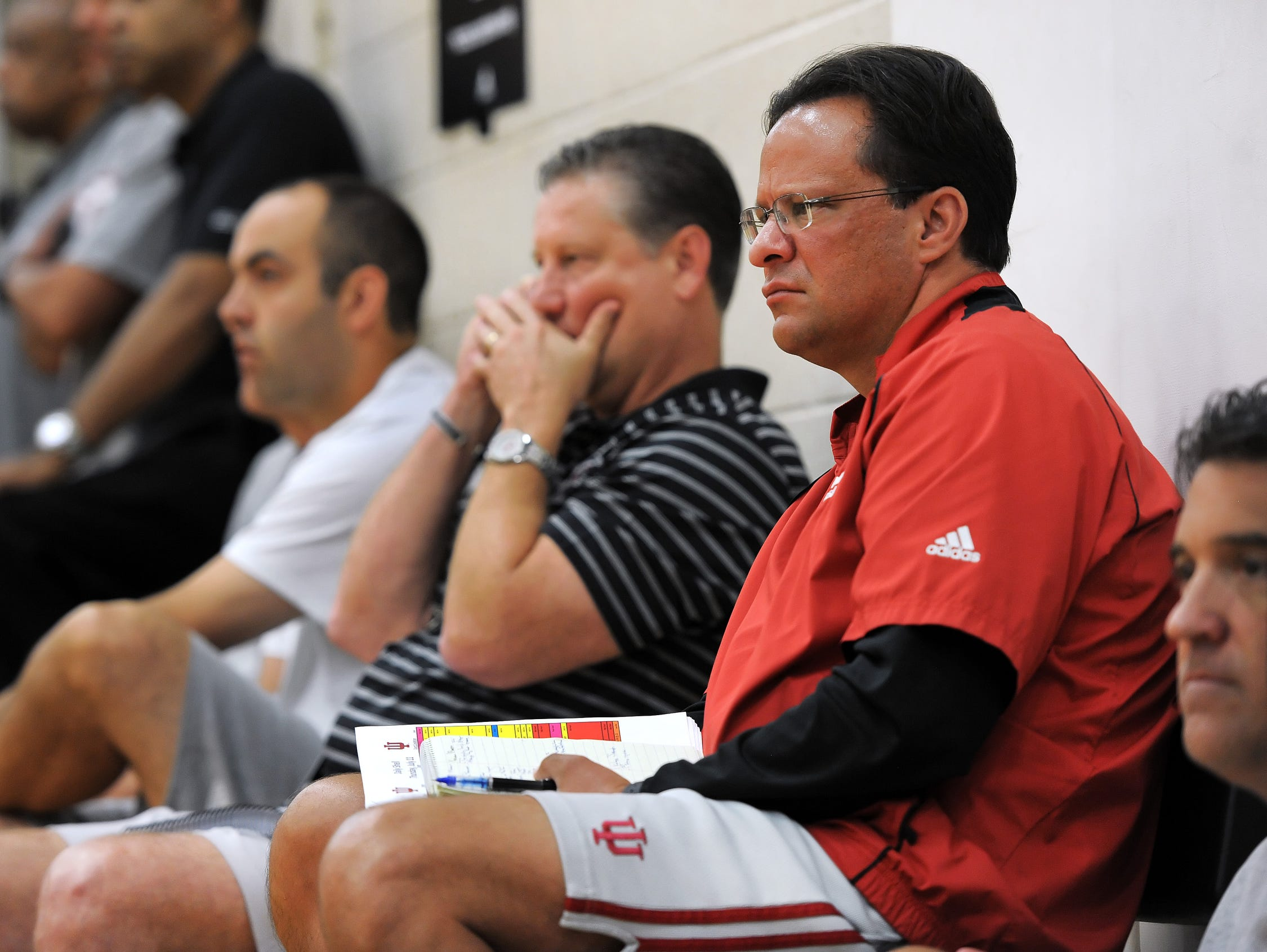 Tom Crean was in Charlotte on Wednesday night, for the start of the July evaluation period.