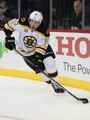 Brad Marchand scored the winning goal for the Bruins Wednesday night.