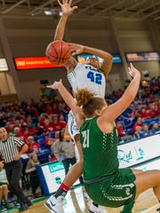 FGCU sophomore Tytionia Adderly, the ASUN's second-leading