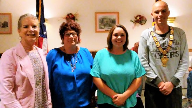 Natalie Zyski, second from right, received a $4,000 scholarship by the Elks National Foundation. Pictured with her, from left, are are Jan Linder, Laurie Zyski and Kris Cantrell.