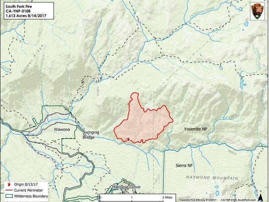 South Fork Fire started in Wawona, south of Wawona