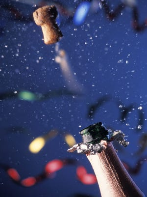 A champagne cork can fly out of the bottle at up to 27 mph.