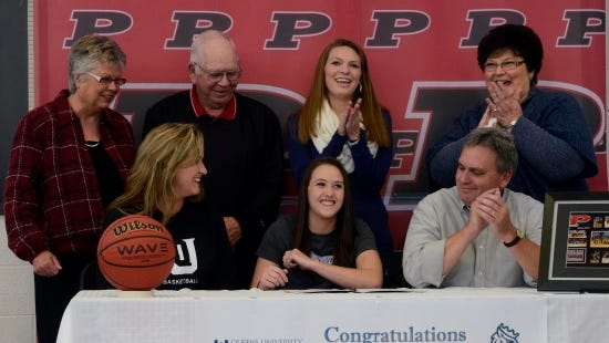 Pisgah senior Sheridan Pressley has signed to play college basketball for Queens.