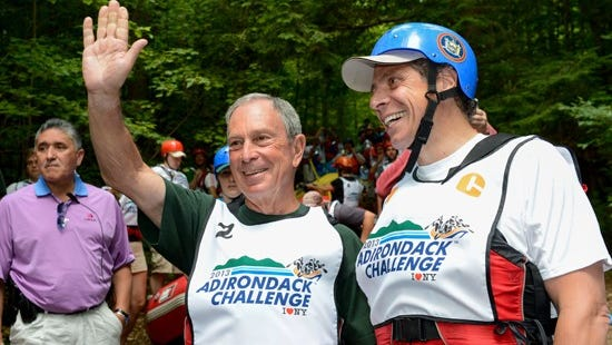 July 22, 2013-Indian Lake- Governor Andrew M. Cuomo  hosts 1st Adirondack Challenge Festival in Indian Lake for a second day racing New York City Mayor Michael Bloomberg.
