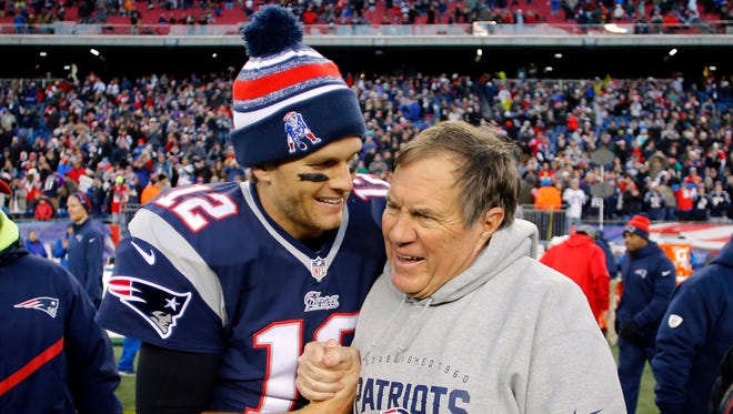 Tom Brady and Bill Belichick will hope to be smiling Sunday evening.