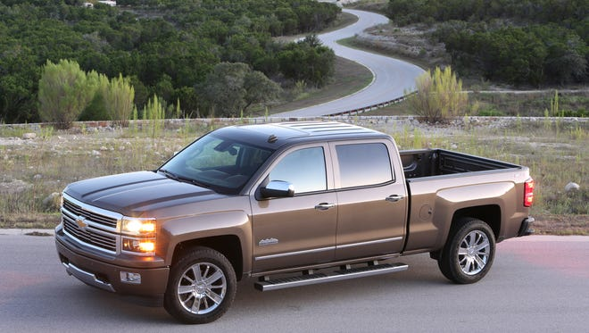 GM's Chevrolet brand introduced a high-dollar version of the redesigned 2014 Silvearado pickup called High Country, expected to be a high-profit model.