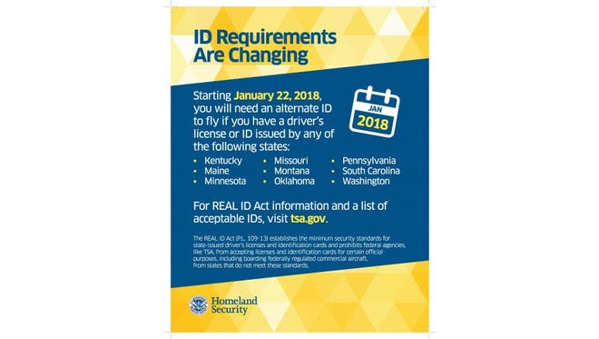 Beginning Jan. 22, 2018, the Transportation Security Administration will begin strict enforcement of the REAL ID requirements at airport security checkpoints.