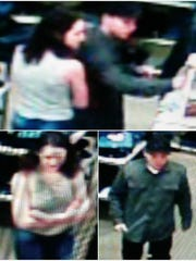 Las Cruces Crime Stoppers is offering a reward of up to $1,000 for information that helps identify a couple suspected of shoplifting a large amount of denimwear from Sears on Dec. 11, 2016.