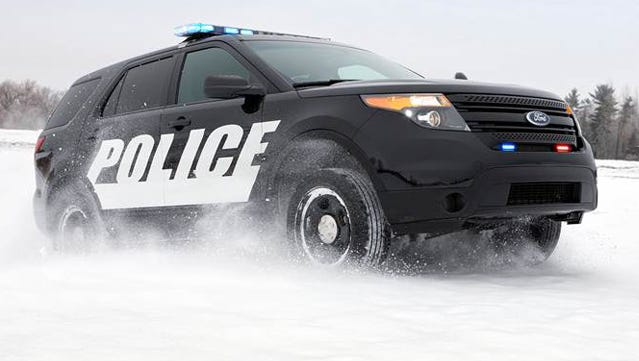 Ford says the police version of the Explorer is now outselling other police vehicles, partly because it has all-wheel drive.