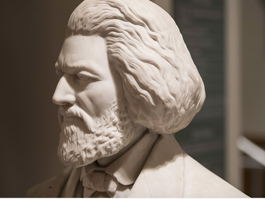 This bust of Frederick Douglass was created by Johnson
