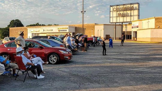 The Maury County Democratic Party hosts a Truck-n-Stump forum for candidates in the parking lot of the Columbia Mall on Tuesday, June 2, 2020.