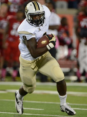 Central Florida running back Storm Johnson's big game helped the Knights topple No. 6 Louisville.