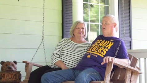 Sandy Davis and his wife, Patty, talk about Sandy's battle against cancer in Phelan's video.