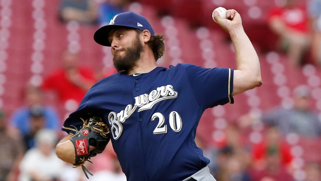 Brewers starting pitcher Wade Miley allowed just one run Wednesday in his season debut.