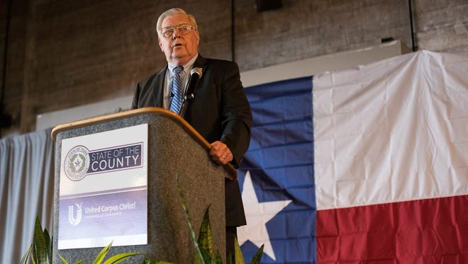 County Judge Loyd Neal gives the 2017 State of the County Address during a luncheon Wednesday, March 29, 2017, at the Congressman Solomon P. Ortiz International Center.