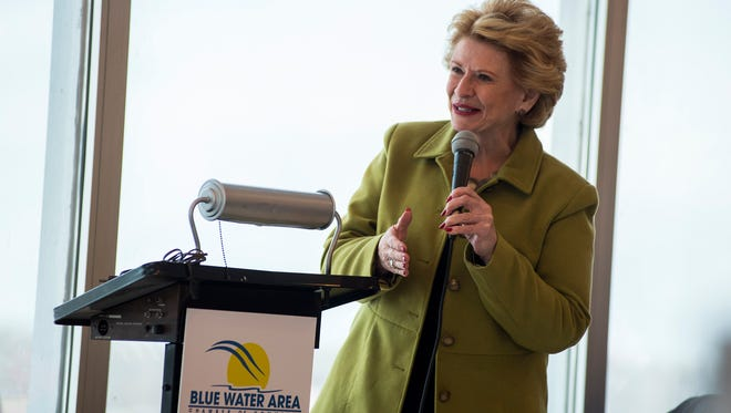 Sen. Debbie Stabenow speaks at the Blue Water Area Chamber of Commerce's Power Lunch Series at Rix's Rooftop in Port Huron Jan. 2. Some topics covered include issues related to the Great Lakes, workforce development, taxes, and jobs.