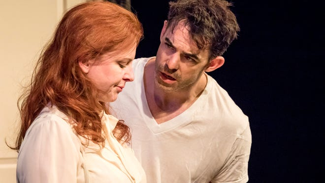 """Inga R. Wilson and Drew Palmer in Jewish Ensemble Theatre's staging of """"Hard Love."""""""
