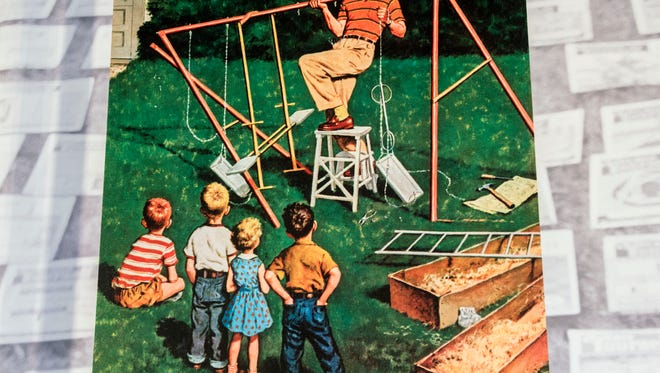 """From the current exhibit, """"Patios, """"Patios, Pools and the Invention of the American Backyard"""" is an exhibit at the T.T. Wentworth Florida State that looks at the origins and evolution of the space."""