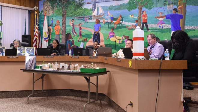 A journal file photo showing the Poughkeepsie City School District during a meeting on May 4, 2016.