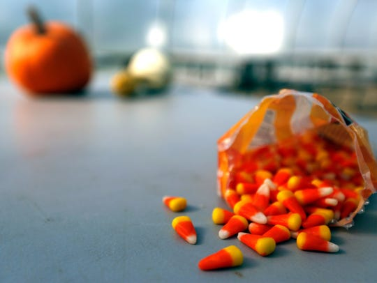 Candy corn is the second most popular Halloween candy in Delaware, according to CandyStore.com.