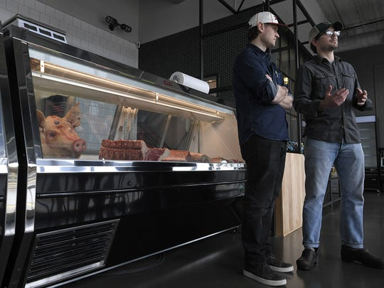 Bare Bones Butcher co-owners Patrick Davidson and Wesley