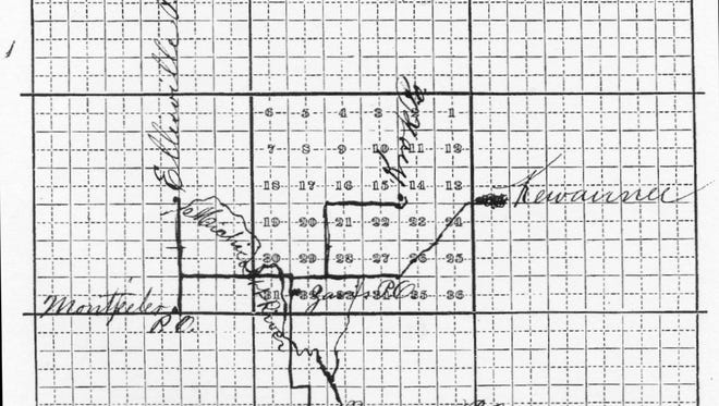 """SNAPSHOT IN TIME: When Viet Rudolph filed a request for a post office at Zavis in 1878, Department of Post Office regulations required him to map the exact spot of the new office, showing streams, rivers and railroads, all vouched for accuracy by another postmaster.  Rudolph said his office would be in the NW quarter of Section 32, Town 23 N, Range 24 E, on the east side of the Michicott River. He was 4-1/2 miles from Montpelier and 4-3/4 miles from Norman and on the east side of the railroad, which was 22 miles away in Green Bay.  At the time of the filing, Rudolph expected his office to serve 300 folks. He would not carry mail, but contractor E. Wyman would be paid to carry it from Casco. If residents wanted their mail, they'd go to Rudolph to pick it up. The home delivery we know in Kewaunee County today began with Rural Free Delivery on Nov. 30, 1904.  The photo comes from the book """"Here Comes the Mail: Post Offices of Kewaunee County'' by Patricia Sharpe, Virginia Feld Johnson and Carl R. Kannerwurf, published in 2010."""