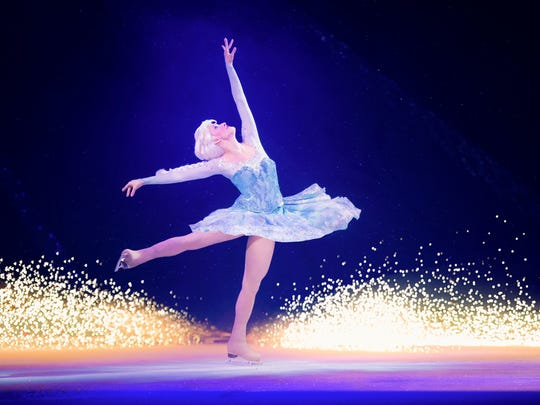 "Elsa takes to the ice during ""Disney on Ice: Dream Big,"" this weekend at the BMO Harris Bradley Center."