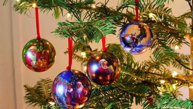Ornaments help make the season festive.