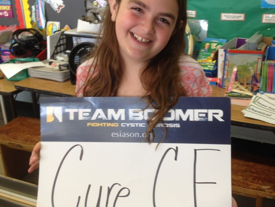 Stony Point Elementary third-grader Julianna Huebner, 8, who has cystic fibrosis, will partake in North Rockland Sports Day, which will raise money for the disease.