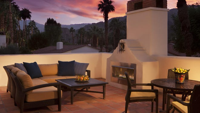 A highlight of the La Quinta Resort and Club is this Starlight Casita patio.