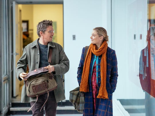 """Ethan Hawke and Greta Gerwig in a scene from """"Maggie's Plan."""""""