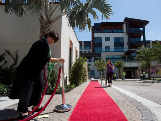 The final touches are made for the grand opening celebration