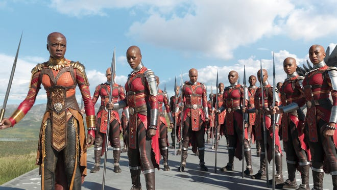 Okoye (Danai Gurira) is the general of the powerful Dora Milaje in 'Black Panther.'