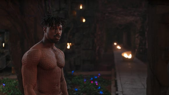 "After playing several leaner characters, Michael B. Jordan bulked up to embody Erik Killmonger in ""Black Panther."" Trainer Corey Calliet says Jordan's ""over-exaggerated chicken pox"" drew more attention to his bulked-up bod."
