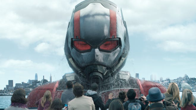 """This image released by Marvel Studios shows Paul Rudd in a scene from """"Ant-Man and the Wasp."""" (Disney/Marvel Studios via AP) ORG XMIT: NYET921"""