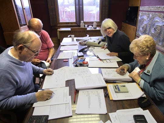 From left, Livingston County Board of Canvassers members