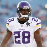 The Minnesota Vikings placed Adrian Peterson on the Exempt/Commissioner's Permission list, requiring the running back to abstain from team activities during his child-abuse case.